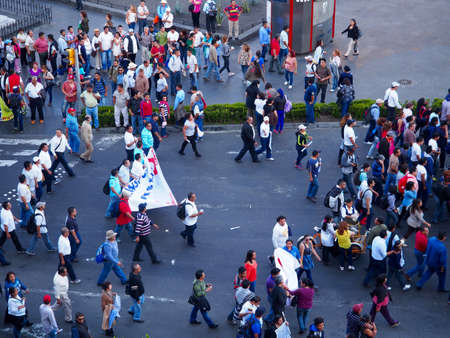 Mexico City City Square filled with protesters