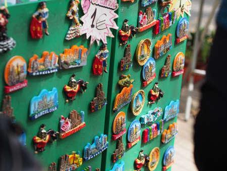 Souvenirs in Barcelona, Spain Фото со стока