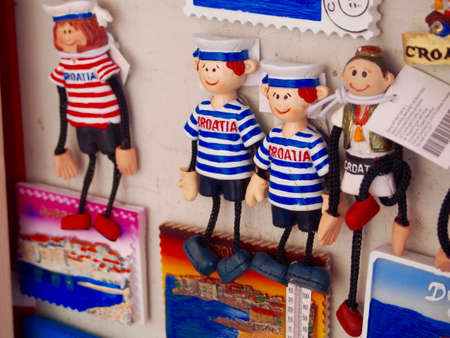 Souvenirs gift shop in Dubrovnik ,Croatia Фото со стока