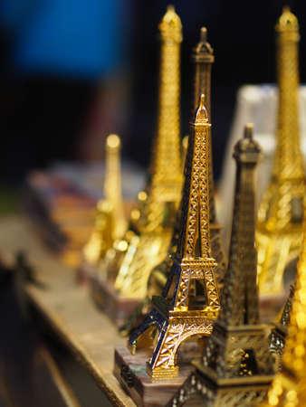 Eiffel tower Souvenirs, Paris France