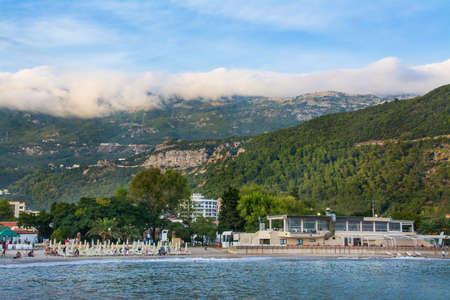 mountains, beach on the Adriatic Sea, Budva, Montenegro