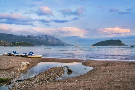 beautiful beach on the Adriatic Sea, Montenegro