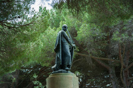 Monument in The Castelo de Sao Jorge, Lisbon, Portugal