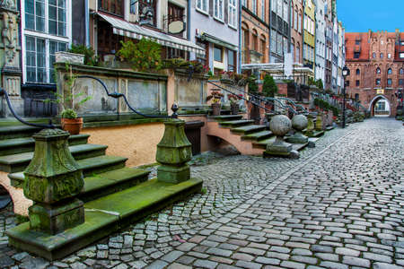 Architecture of Mariacka street in Gdansk is one of the most notable tourist attractions in Gdansk. poland Stock Photo