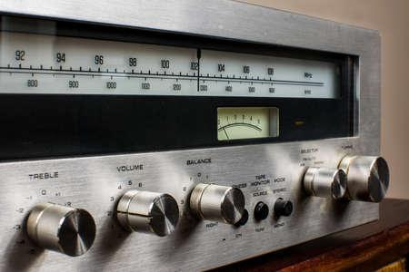 knobs on the amplifier, treble, volume, balance