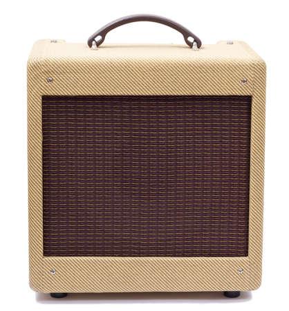 Vintage tweed guitar amplifier photo
