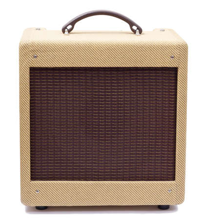Vintage tweed guitar amplifier photo
