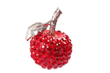 fake diamond: Red apple pendant jewel