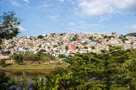 shantytown: View of Morro do Papagaio at Belo Horizonte, Minas Gerais, Brazil Stock Photo