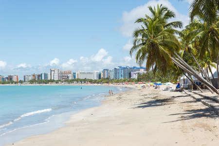 brazil beach: View of Ponta Verde in Maceio, Alagoas, Northeast of Brazil Stock Photo