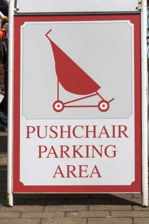 Pushchair parking area  Stock Photo