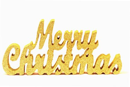 Gold glitter merry christmas sign