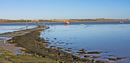Idylic seascape view Oare marshes Kent Stock Photo - 17264168