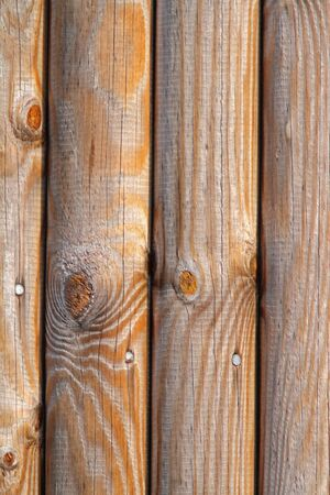 Weathered wood fence panel with detail Stock Photo