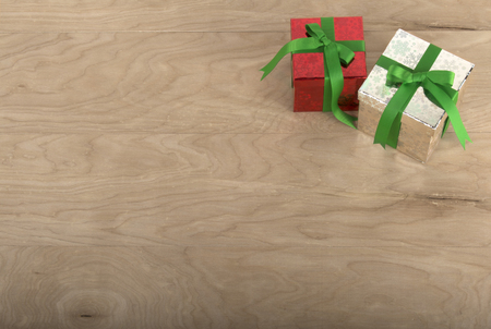 hollidays: Christmas Gifts in wood Background for hollidays uses
