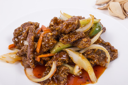 meat alternatives: Picure of Szechuan Spicy Beef, for restaurant uses