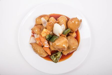 asian food: Sweet  Sour Chicken picture for restaurant uses Stock Photo