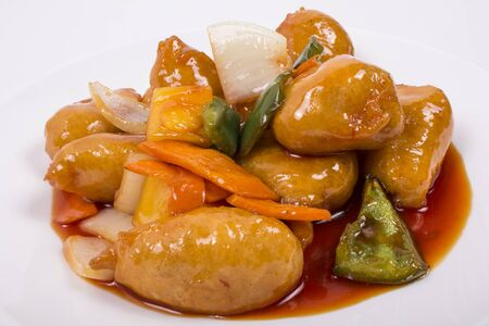sweet and sour: Sweet  Sour Chicken picture for restaurant uses Stock Photo
