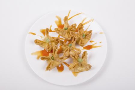 prepared shellfish: Crab Rangoon picture for use in restaurant
