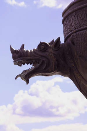 Bas relief of dragon Stock Photo