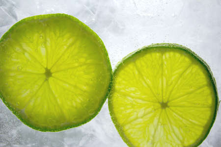 wasser: Lime on Ice - Iced Lime Stock Photo