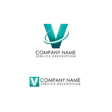 Corporate technology logo vector illustration