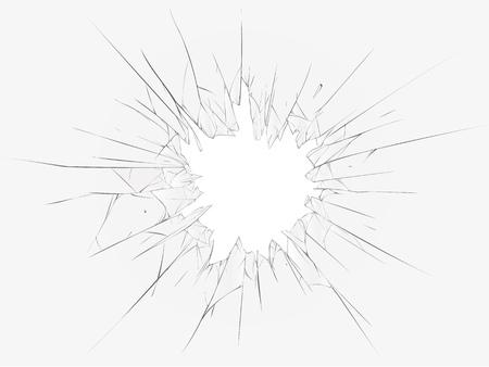 anger abstract: Broken glass, dark background. illustration