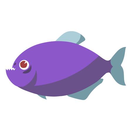piranha fish flat