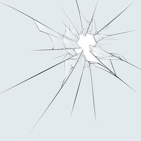 shatter: Broken glass on blue background.