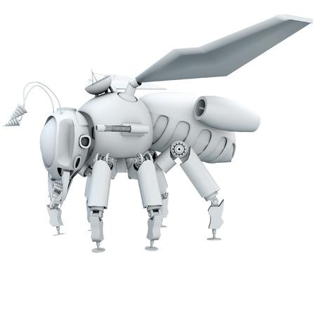 technologie: 3d Bee robot Stock Photo