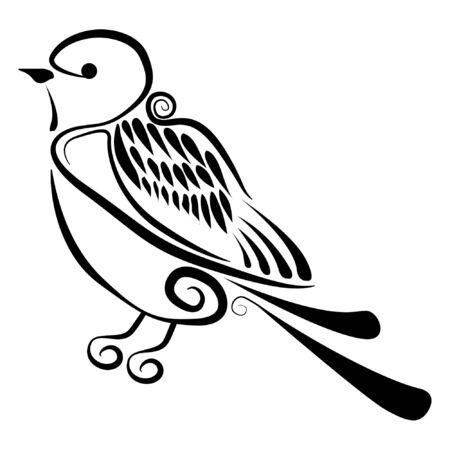 humming: Vector - Abstract bird