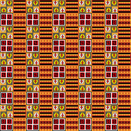 Vector - Inka seamless pattern, color background Illustration