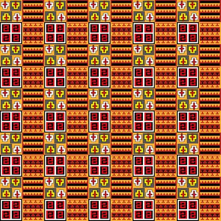 inka: Vector - Inka seamless pattern, color background Illustration