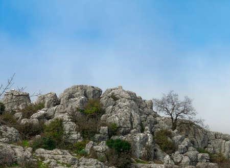 View of Rocks Formation El Torcal de Antequera Natural Park. 版權商用圖片