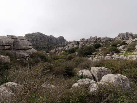 View of El Torcal de Antequera Natural Park.
