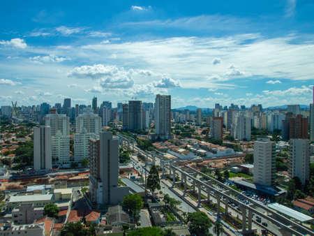 Aerial view of Brooklin neighborhood in Sao Paulo.