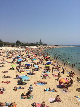 바르셀로나 해변 현장