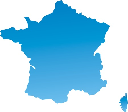 east germany: Map of France
