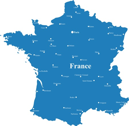 maps of France Stock Photo