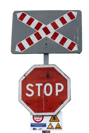 crossing road sign Stock Photo - 15303341