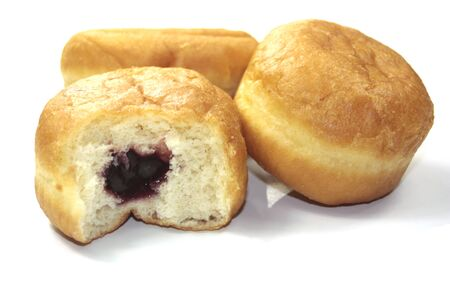 donut with raspberry Stock Photo