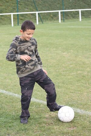 7 8 years: child playing football
