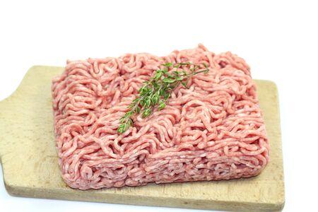 carne macinata: carne macinata Archivio Fotografico