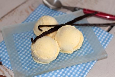 vanilla ice cream Zdjęcie Seryjne