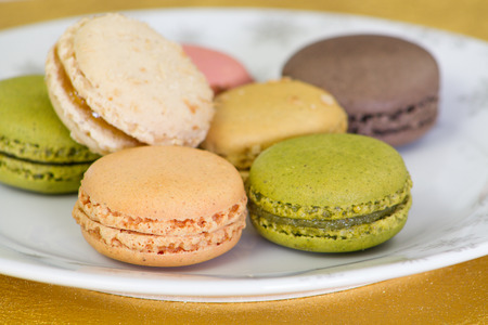 matching macaroon on the plate