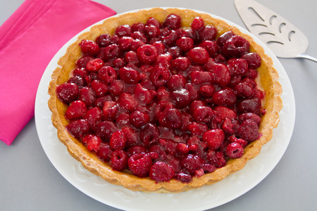 whole raspberry tart