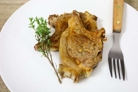 cooked lamb chops Reklamní fotografie