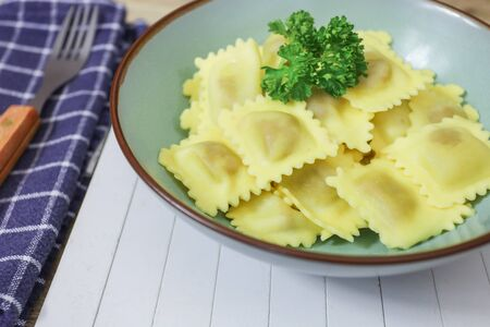 ravioli cooked on a plate Banque d'images
