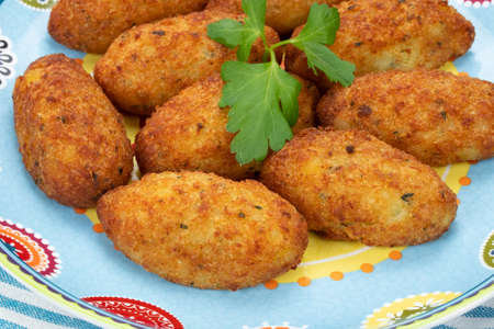 cod fritters in a dish