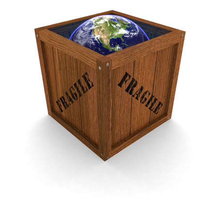 Fragile Earth in a Box photo
